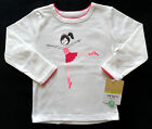 NWT New Carter's Off-White, Pink Ballerina Dancer Long Sleeve Shirt, 12 Month