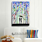 Pour Deux Abstract Stretched Canvas Print Framed Wall Art Home Decor Painting AU