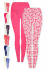 Girls 2 Pack Legging Set New Kids Baby Vibrant Printed Leggings Ages 1-7 Years