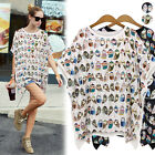 Summer Womens Loose Casual short Sleeve T-Shirt Blouse Tops plus size 14-24 hot