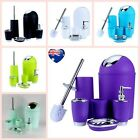 Bathroom Accessory Set 6 Pcs Soup Dish Toothbrush Dispenser Toilet Tumbler Bin
