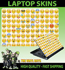 LAPTOP STICKER SKIN EMOJI FACES ICONS MOODS SMILEYS VINYL VARIOUS SIZES