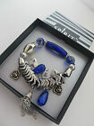 SPIRIT CHUNKY STRETCH TASSEL & CHARMS BOXED BRACELET  red purple blue black new