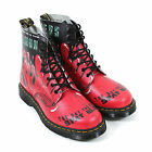 Dr Martens Unisex Pascal 8Eye Demented Are Go Backhand Leather Boot Red