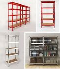 5 TIER BOLTLESS INDUSTRIAL RACKING BAY GARAGE SHELVING STORAGE SHELVE HEAVY DUTY