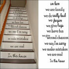 STAIR RISER STICKERS  IN THIS HOUSE RULES WE ARE FAMILY