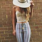Summer Women Ladies Boho Sexy Sleeveless Vest Top Lace Crop Tank Tops Blouse New