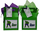 Personalised Marvel Superhero Hulk Birthday Party Favour Lunch Gift Box/Bag