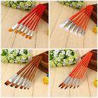Popular 6Pcs Artist Nylon Hair Pen Acrylic Oil Paint Brush Set Drawing Painting