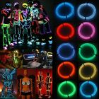 2M/3M/5M LED Flash Flexible Neon Light Glow EL Strip Tube Wire Rope 3V Kit New