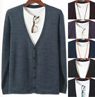 New Fashion Mens Dandy Stylish Knit Cardigan Sweater Jumper Blazer Top W009