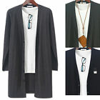 Mens V-Neck Chic Time Long Knit Cardigan Sweater Button Jumper Blazer W048 S/M