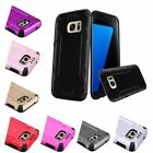Shockproof Protective Brushed Hybrid Hard Case For Samsung Galaxy S7 / S7 Edge