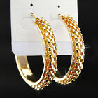 Wholesale Fashion 12Pairs Big Mix Silver Gold Chains Hoop Earrings Women Jewelry