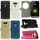 Flip Circle Window View Leather Case Slim Cover Stand For LG G5 / K4 / K7