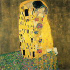 The Kiss By Gustav Klimt Abstract WALL ART CANVAS FRAMED OR POSTER PRINT