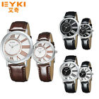 EYKI Women's Men's Quartz Wristwatch Leather Band Classic Fashion Business Watch