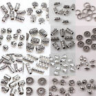 DIY Wholesale 12-210pcs Silver Plated Loose Spacer Beads Charms Jewelry Making