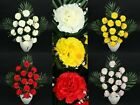 57cm LUXURY ARTIFICIAL SILK FLOWER CARNATION BUSH WEDDING BOUQUET POSY DECOR