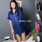 Women's Ladies 16 Momme 100% Pure Silk Pajama Robe Sleepwear Nighties Size S-4XL