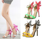 Womens Butterfly Wings High Heels Vampire Diaries Party Wedding Sandals Shoes