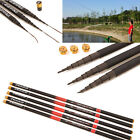 1x Outdoor Pro Carbon Fiber Telescope Fishing Rod Camping Spinning Pole 3.6/6.3M