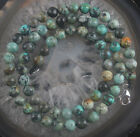 Natural African Turquoise Beads 925 sterling silver necklace L15470
