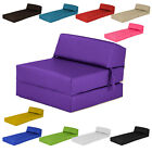 Single Chair Bed Z Faux Leather Guest Fold Out Futon Sofa Chairbed Mattress Foam
