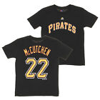 Majestic MLB Youth Pittsburgh Pirates Andrew McCutchen #22 Player Tee, Black