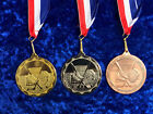 Ice Hockey Medals Tournament Event Great Quality on Ribbon Bronze or Silver