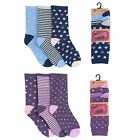Ladies Cotton Rich Purple/Navy Socks SK007