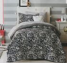 NEW~BED IN A BAG~BLACK~WHITE~ZEBRA~TWIN~6 PIECE SET~COMFORTER~SHEETS