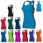 LADIES MOISTURE WICKING, RACERBACK w/ KEYHOLE TANK TOP, RUNNING, GYM S M L XL 2X