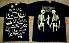 Mens Glow in the Dark Black Halloween T-shirt S Ghost Faces XL Got Your Back NWT