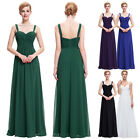 2016 New Long Bridesmaid  Evening Dress Women Wedding Prom Party Size 4~18