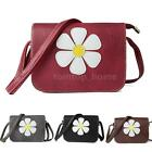 Women PU Leather Flower Shoulder Messenger Bag Tote Handbag Satchel Casual V2S1