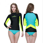 2016 New! Women Long Sleeve Wetsuit Shirt Scuba Diving Swimming Surfing Tops