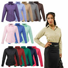 Premier Ladies Womens Long Sleeve Poplin Shirt Blouse Top Business Work