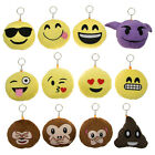 12pk Mini Emoji Hanging Plush Pillow Set Emoticons Cushion Toys Pack Smiley Poop