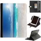 Beach Seaside Luxury Apple ipad 360 swivel leather case cover with card slots