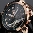 Men's Fashion Automatic Mechanical Date Day  Dress Leather Wrist Watch