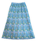 LADIES' UK 8-22 Liberty of London Handmade Summer Cotton Skirt in Hera A
