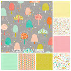 FABLE WOOD BY DASHWOOD modern FLORAL 100% COTTON FABRIC dots spots pink green