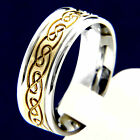 Yellow Gold Tone Stainless Steel Engagement Wedding Mans Bridal Band Ring