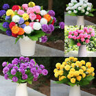 Home Garden Flower Arrangement Artificial Small Chrysanthemum Daisy Silk