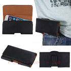 Portable Magnet PU Leather Belt Clip Holster Pouch Flip Case Cover For Phones