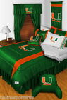 Miami Hurricanes Comforter Sham and Valance Twin Full Queen King Size