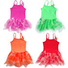 Cute Girls Butterfly Princess Leotard Ballet Tutu Dress Kid Dancewear Skirt 3-8Y