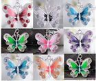 New Fashion Enamel Silver Plated Butterfly Crystal Pendant Necklace U Pick