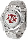 Texas A&M Aggies Sport Watch Steel Band White Dial Ladies or Mens